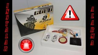 ¿Como instalar una alarma de motocicleta?