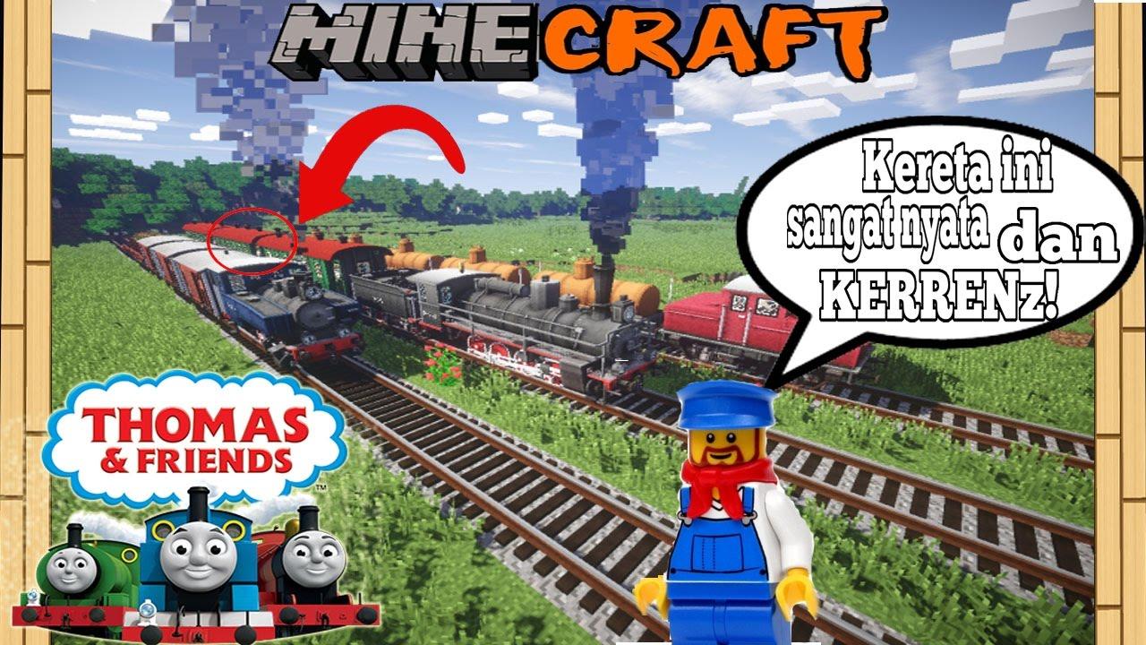 Kereta Api Realistis Minecraft Thomas And Friends Edition