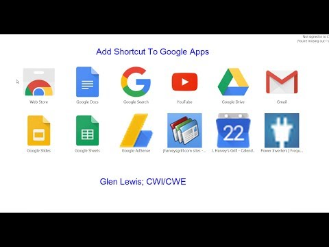 How To Add Shortcuts To Google Apps Chrome Browser