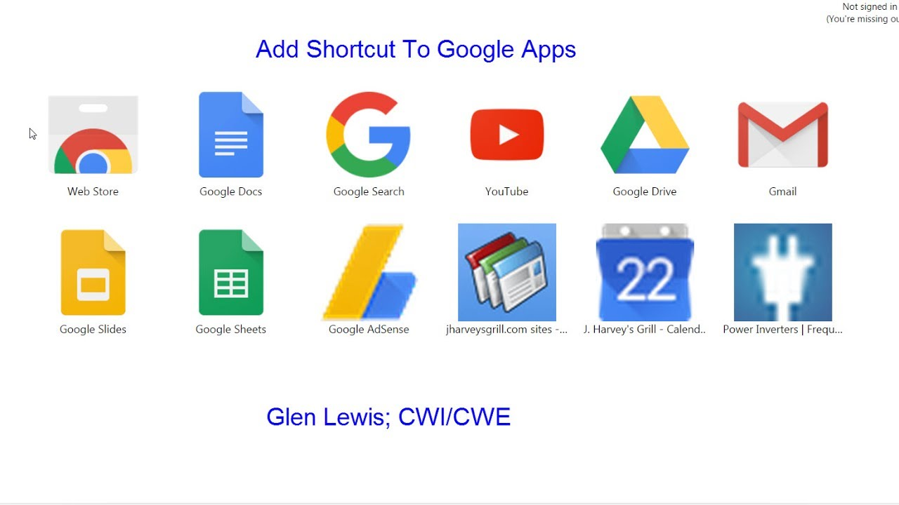 How To Add Shortcuts To Google Apps Chrome Browser Youtube