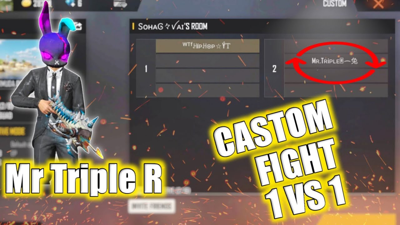 Mr Triple R VS HipHop GaminG | Castom 1 VS 1 Fight | Triple R ভাইয়ের সাথে 1 VS 1 খেললাম। | FreeFire.