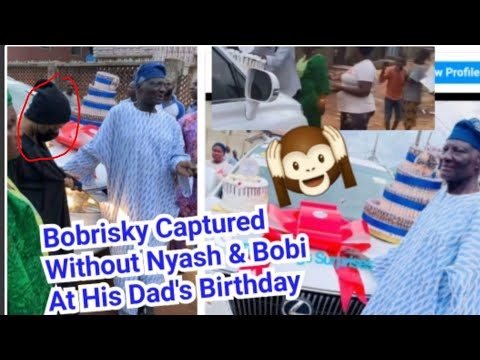 Bobrisky Attended Dad's Birthday As A Man Without Nyash & Bre@st/ Bob Gifted His Dad A Lexus Jeep