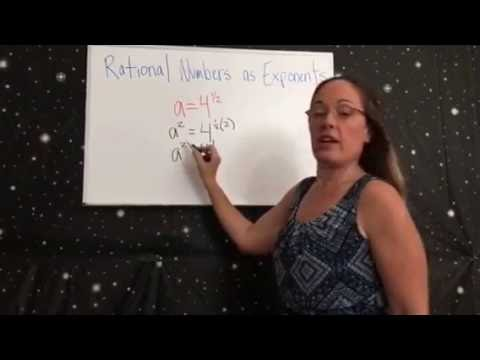 How to Extend properties of exponents to rational exponents