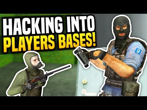 HACKING INTO PLAYERS BASES - Gmod DarkRP | New Hacker Job!