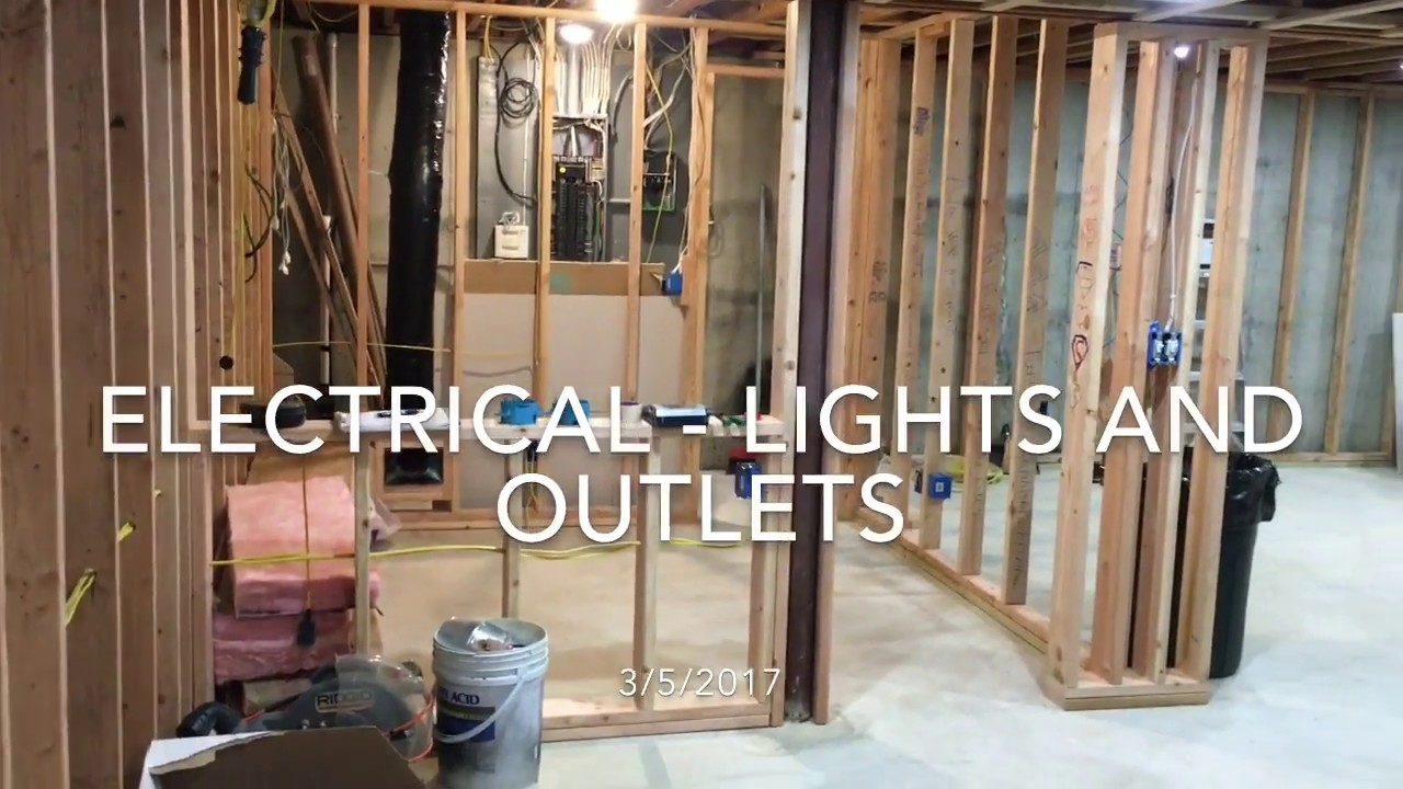 Finishing My Basement Electrical Youtube Wiring Remodel