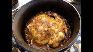 Dutch Oven Chicken and Rice (with rice pegao)