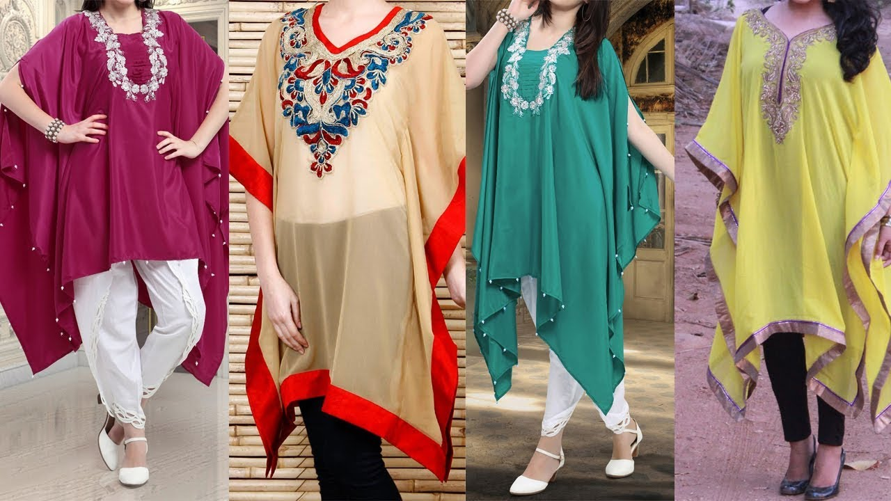 8ffa7bf59 Latest Kaftan or Poncho Simple Cotton Kurti for College Daily Use Office  and Home 2018
