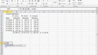 إنشاء 3-D الإشارة - Excel 2010
