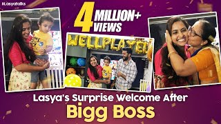 Lasya's Welcome Surprise After Bigg Boss | Lasya Manjunath | Junnu | Surprise Vlog | LasyaTalks