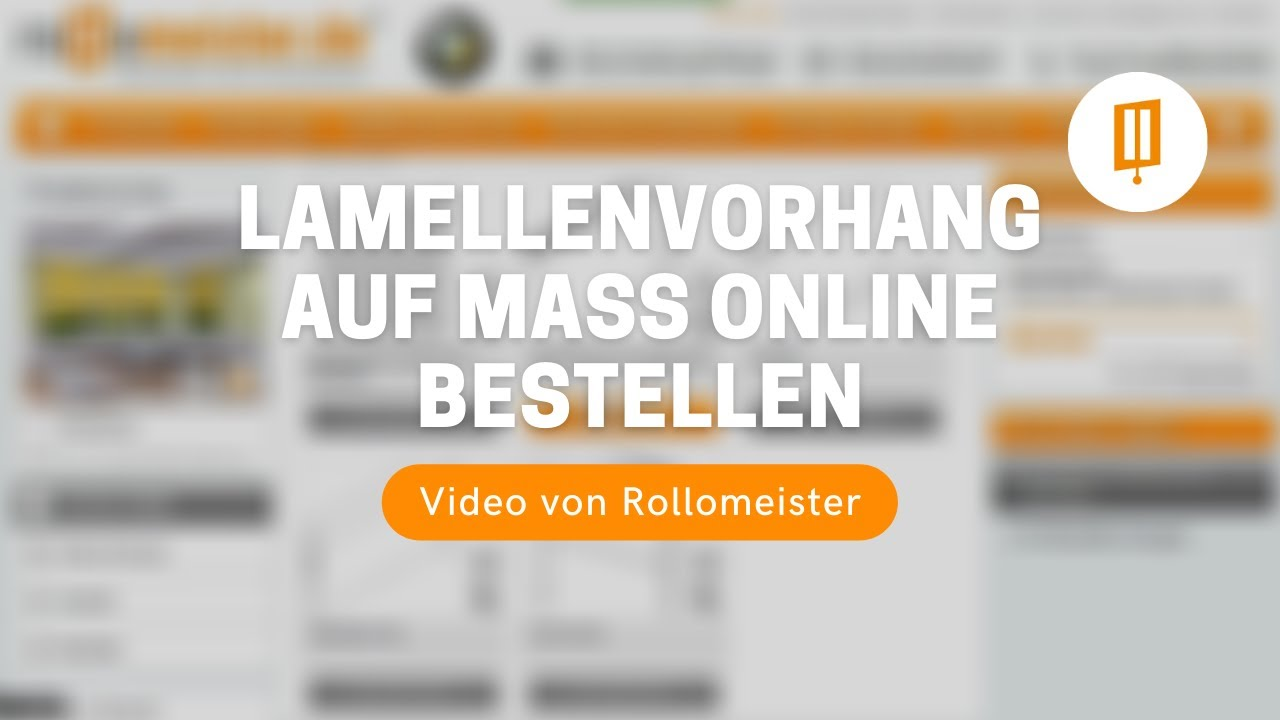 lamellenvorhang auf ma g nstig online bestellen und kaufen video von rollomeister youtube. Black Bedroom Furniture Sets. Home Design Ideas