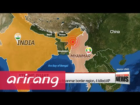 Strong quake hits India-Myanmar border region, at least 4 killed