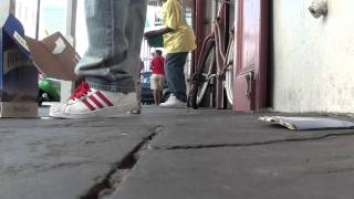 New Orleans street performers: tap dancing kids