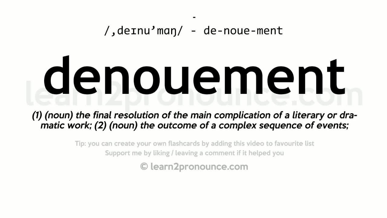 what is a denouement in literature