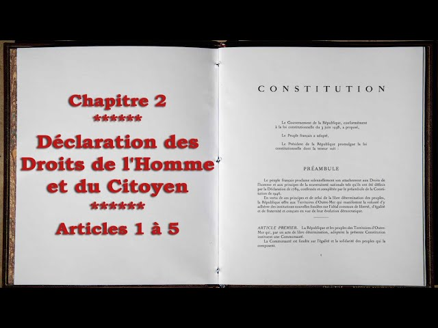 Analyse critique de la constitution française - Chapitre 2 : Articles 1 à 5 de la DDHC