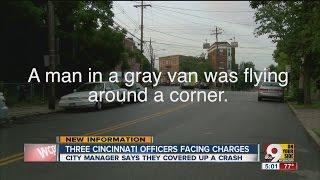 Cincinnati police officers accused of crash cover-up