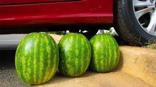 Crushing Crunchy & Soft Things by Car! - Watermelons vs Car