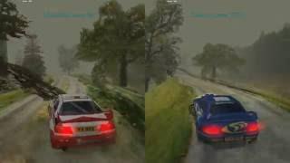 Mobil 1 Rally Championship Arcade Time Trial Riccarton Mi Evo V vs Subaru 60FPS
