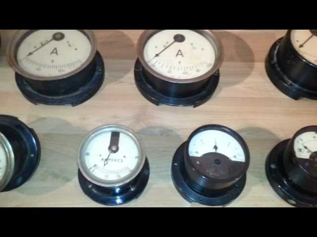 My vintage electric meter collection 03/2014 - Meine Sammlung alter Volt und Amperemeter