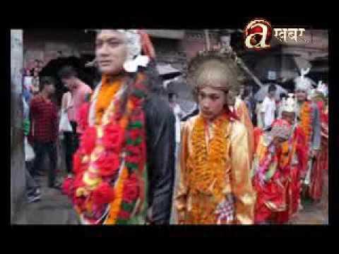 Before staring Kartik month, artist of Kartik Nach are being revolved around Lalitpur area