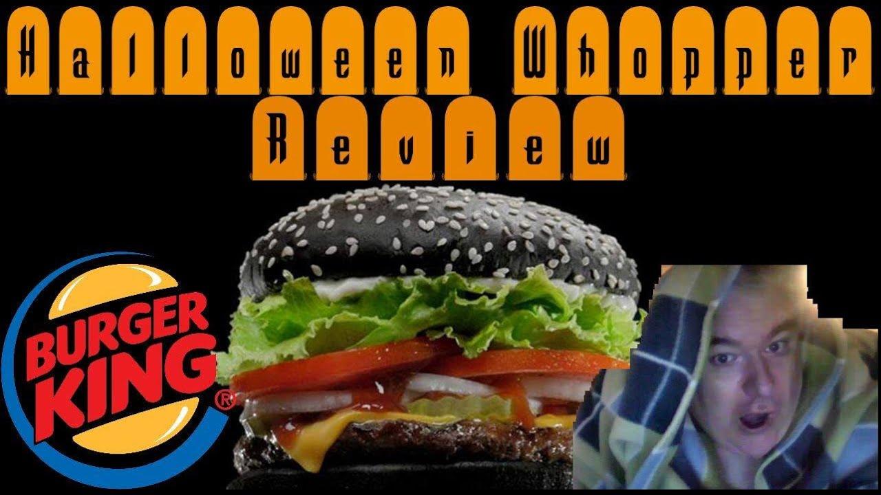 Burger king black bun Halloween whopper - YouTube