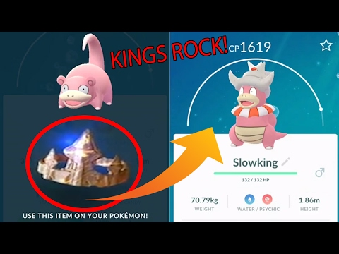 Pokemon Go Gen 2 KINGS ROCK - Found!!! Evolving SLOWKING