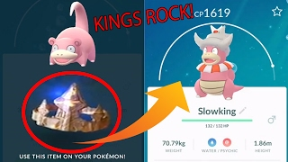 Download lagu Pokemon Go Gen 2 KINGS ROCK found Evolving SLOWKING MP3
