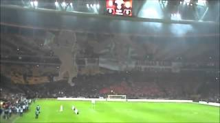 16 Aralık 2012 Galatasaray Fenerbahçe Koreografisi Fener ağlama Tribün Çekimi