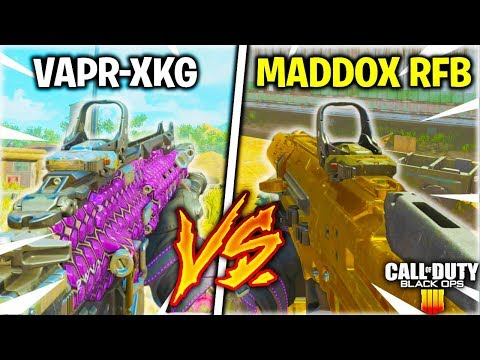 MADDOX RFB VS VAPR-XKG - WHICH OVERPOWERED ASSAULT RIFLE IS BETTER? [BLACK OPS 4 WEAPON COMPARISON]