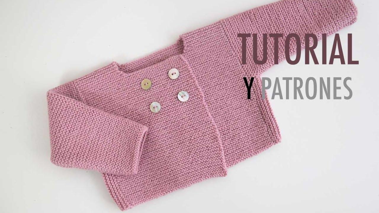 DIY Cómo hacer rebeca de lana para bebés - YouTube