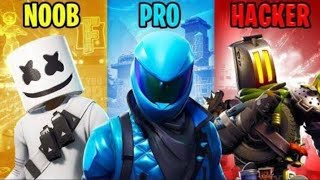 NOOB vs PRO vs HACKER -Fortnite Batlle Royale
