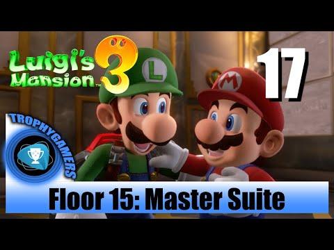 Luigi's Mansion 3 - Floor 15 Master Suite - Save Mario & Peach Walkthrough