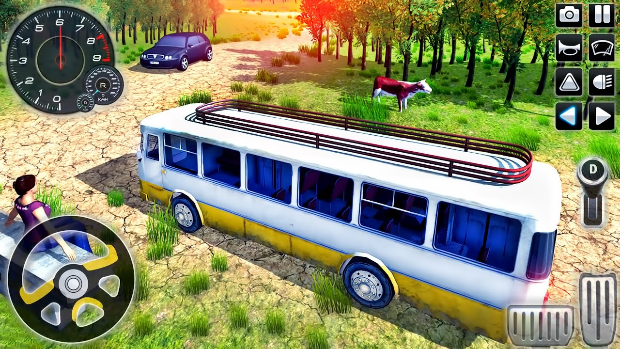 Offroad Coach Bus Driver Simulator 2020 - Uphill Public Transport Driving - Android GamePlay