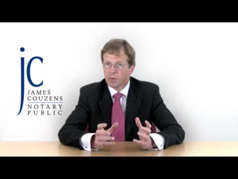 What is a Notary - Notary Public James Couzens on notary services, power of attorney and apostilles