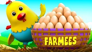 Cluck Cluck Hen | Nursery Rhymes For Children | Kids Songs | Baby Rhymes by Farmees