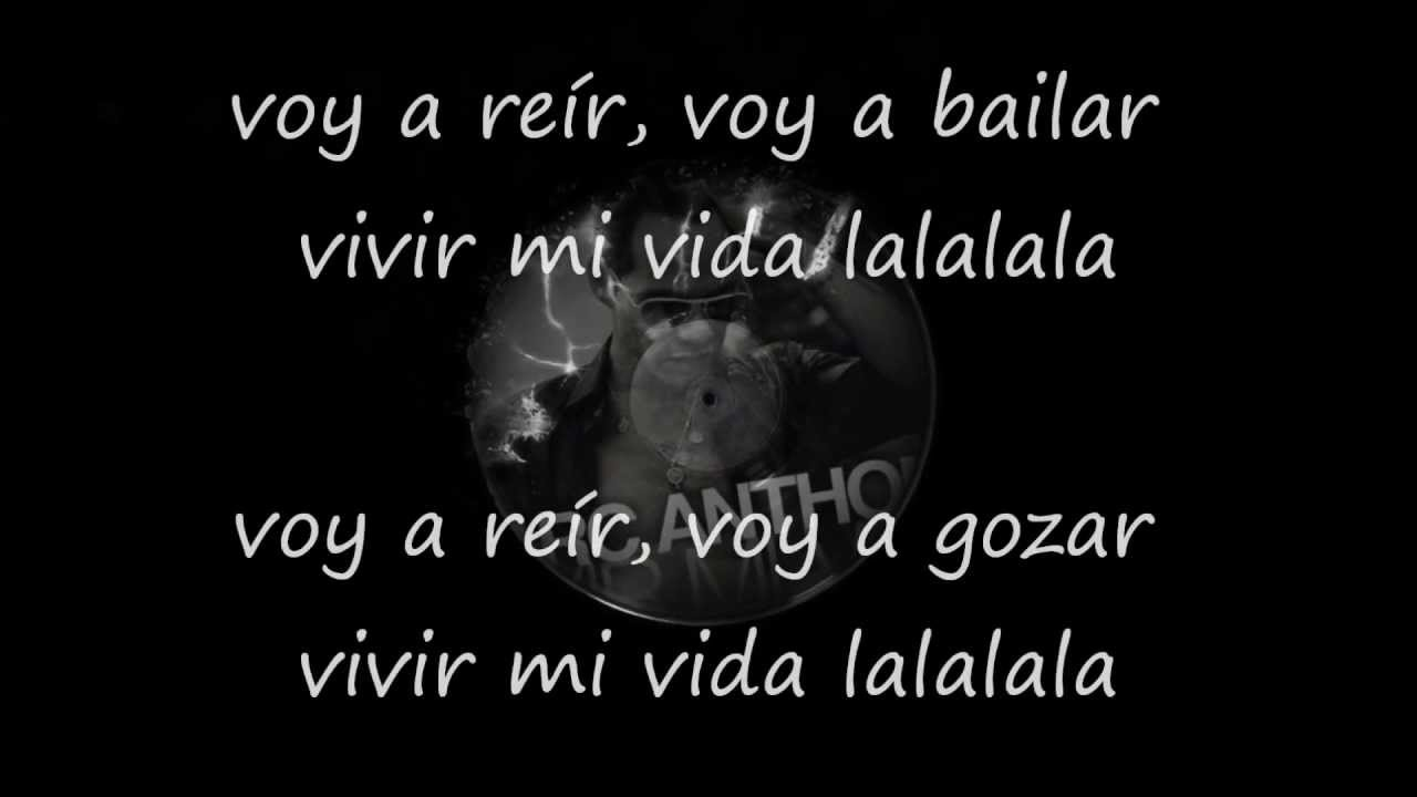 Marc Anthony - Vivir Mi Vida (letra...2013) - YouTube