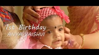 Chennai Kids and Baby Birthday Cinematic Videos Films -Anya Vaishnavi Birthday Film