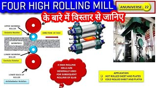 FOUR HIGH ROLLING MILL - TYPES OF ROLLING MILLS (हिन्दी)