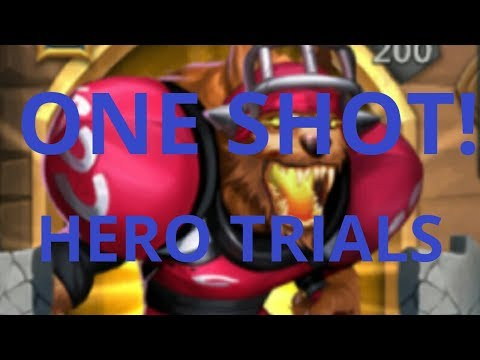 Castle Clash EASY ONE SHOT Hero Trials