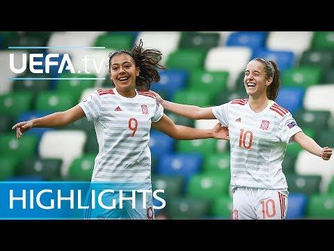 Women's Under-19 EURO semi-final highlights: Netherlands 2-3 Spain