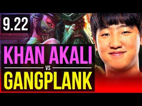 Khan AKALI Vs GANGPLANK (TOP) | Korea Challenger | V9.22