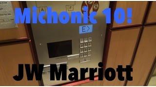 Slow Schindler Miconic 10 elevators  - JW Marriott -  Washington, DC