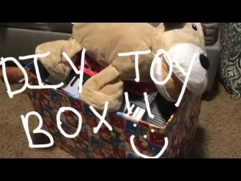 DIY toy storage box on a budget