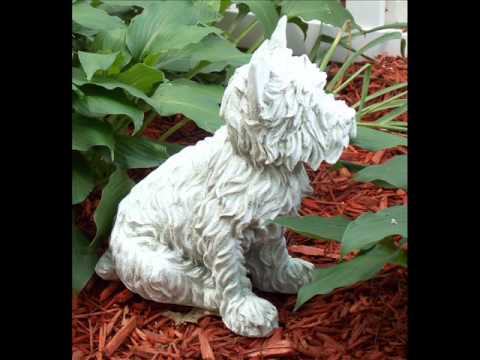 Westie Outdoor Statue, Dover White, Hand Finished; Outdoor ...