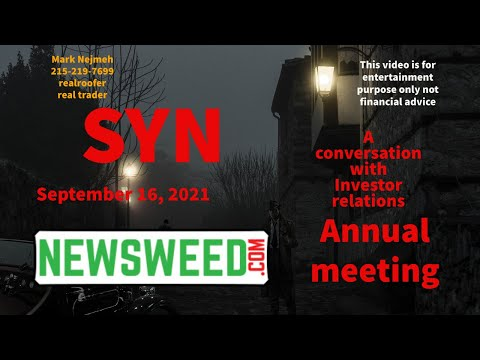 #syn stock investor relations #SYN #Newsweed