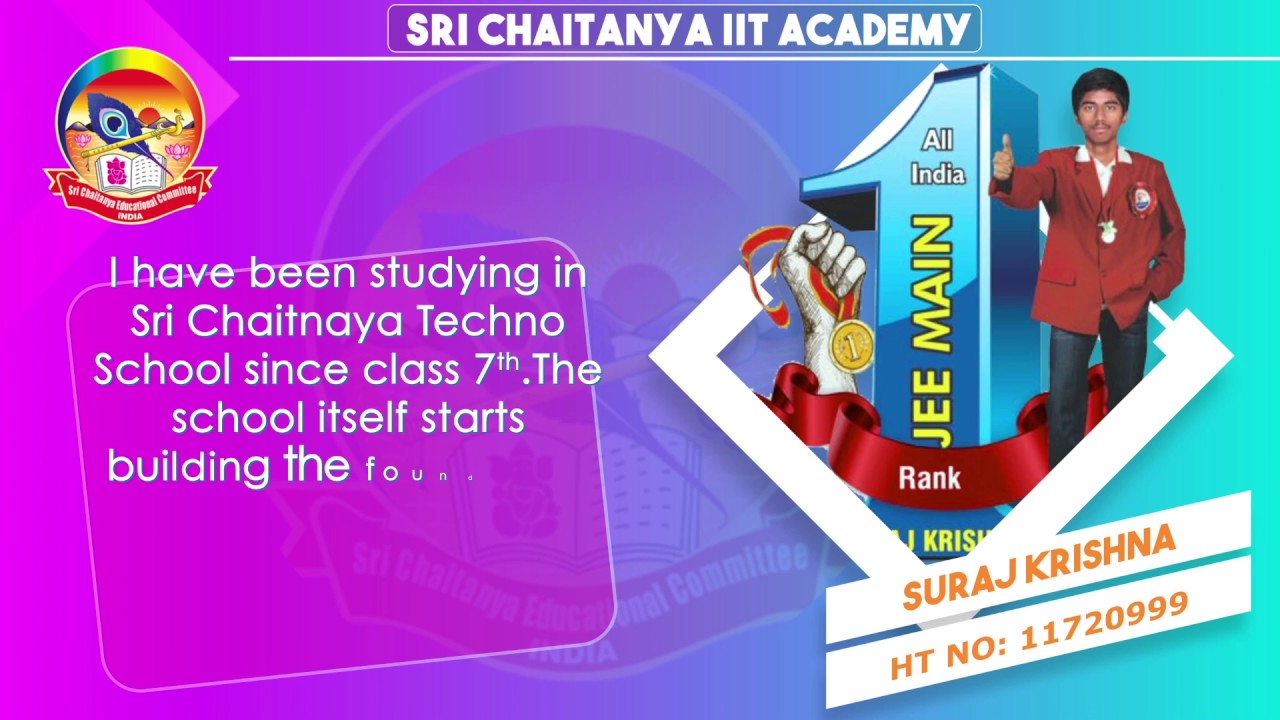Jee Mains 2018 Toppers Testimonials | Sri Chaitanya Educational Institutions