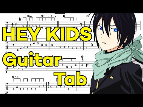 Learn How to Play Kyouran Hey Kids Fingerstyle Acoustic Guitar Lesson TABS(Noragami Aragoto.OP)