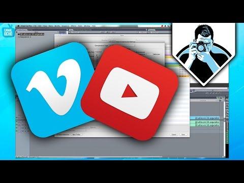 La mejor forma de exportar videos para Youtube y Vimeo