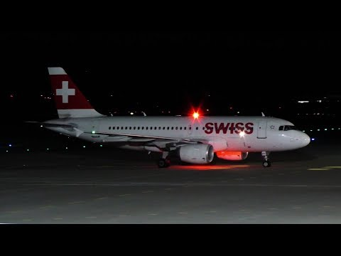 Swiss Airbus 319 landing at Graz Airport | HB-IPY