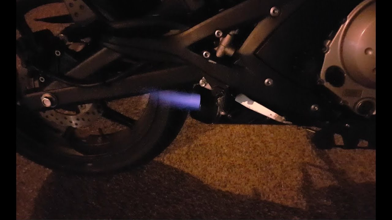 Kawasaki Er 6n M4 Exhaust Too Loud Flames At End Before And