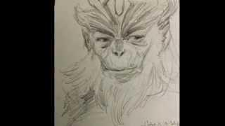 Drawing Hanuman